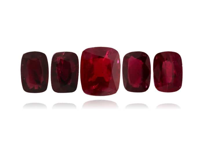 3.12ct Gem Quality Burma Ruby with two side pairs