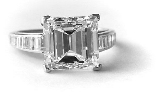 7.45-carat Harry Winston diamond engagement ring - estimated at US$300,000
