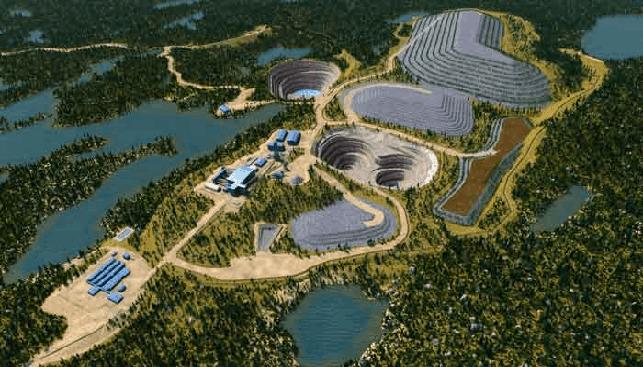 How Renard Mine Plan would look like at maximum impact