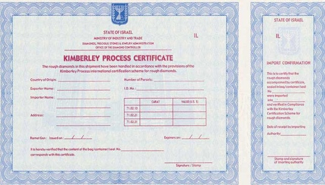 Kimberley certification scheme.