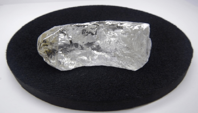One of the massive diamonds recovered at Karowe