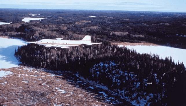 Aerial prospecting, Canada