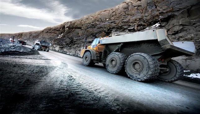 trucks at a Gem Diamonds Mine