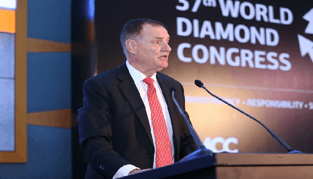 President of the World Federation of Diamond Bourses Ernie Blom