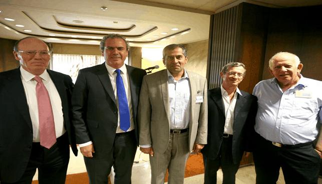 Right to Left: Korn, Avi Paz, Kapoor, Dvash and Schnitzer