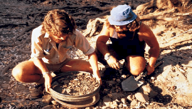 Stream sampling - a technique used by geologists to identify indicator minerals