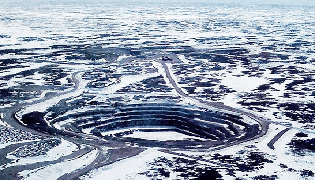 The defunct Jericho Diamond Mine, Nunavut, Canada