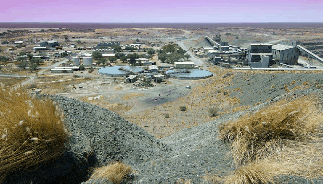 The Letlhakane diamond mine in Botswana