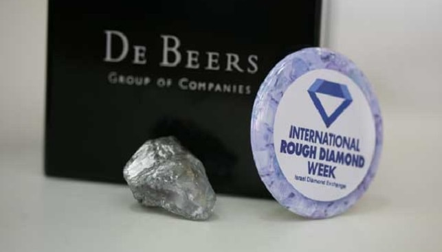 De Beers Logo, Rough Diamond