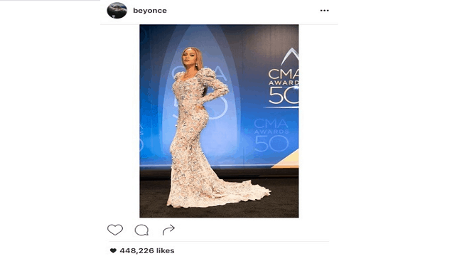 Beyonce in her crystal-studded gown
