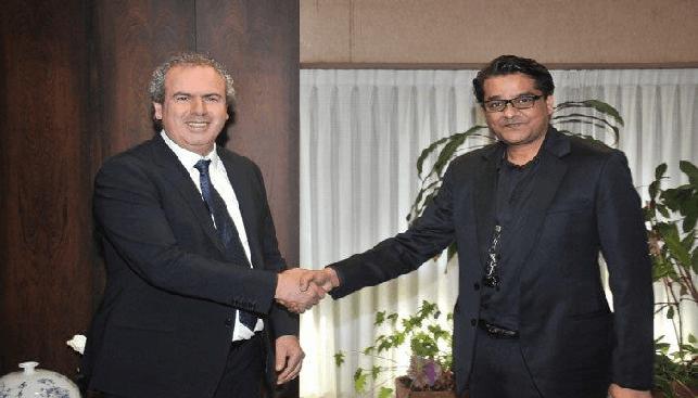 IDE President Yoram Dvsah with JAH President Anup Agarwal