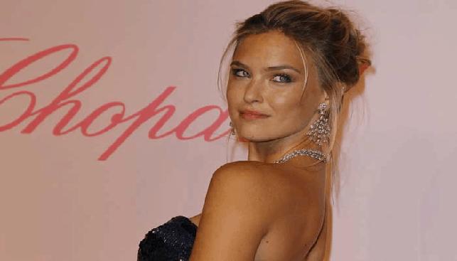 Bar Refaeli models Chopard diamond jewelry at Cannes
