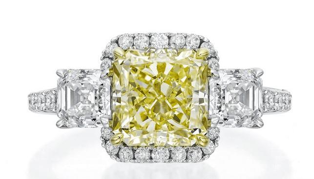 Dalumi's Yellow Fancy Diamond Ring
