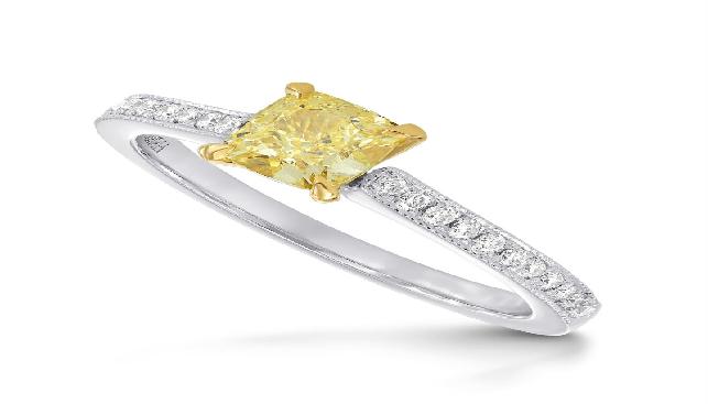 Yellow Diamond ring by Leibish