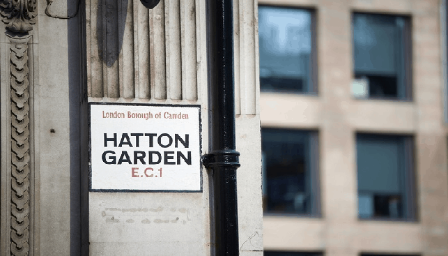 Hatton Garden, also known as London's diamond district