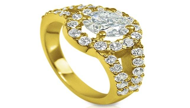 Goldiam Diamond ring