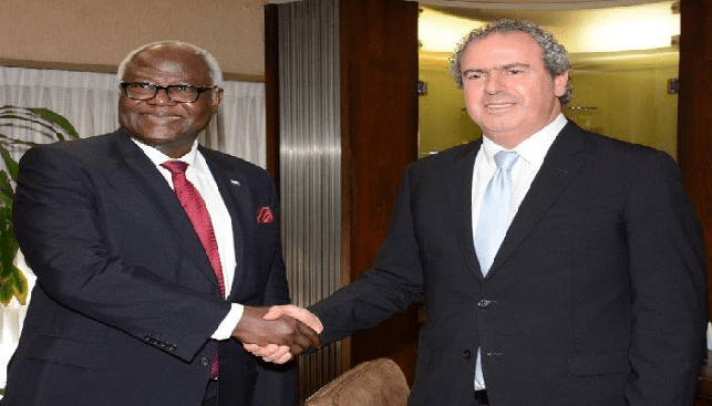 Yoram Dvash and Ernest Bai Koroma president of Sierra Leone