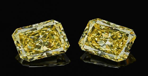 fancy yellow radiants diamonds