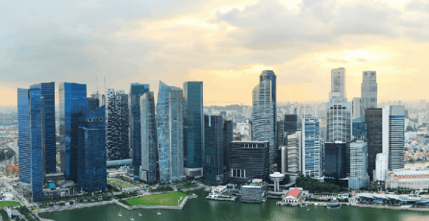Singapore view sunset