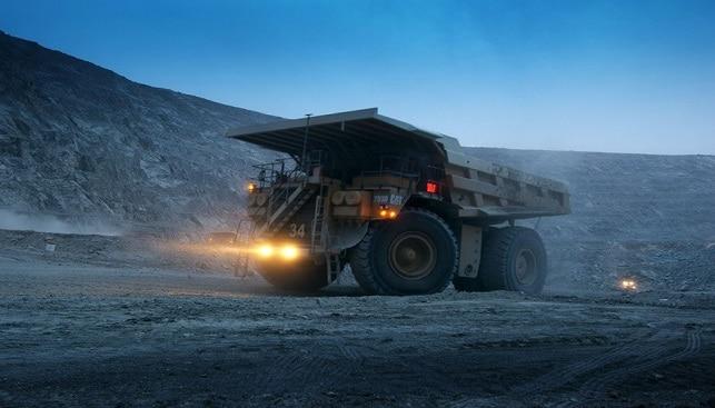 Truck at Venetia diamond mine