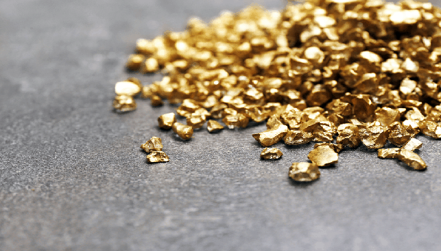 A pile of Gold nugget grains