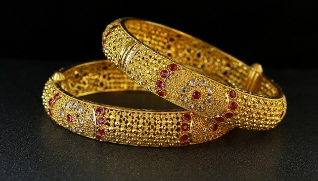 Gold Bangles Jewelry