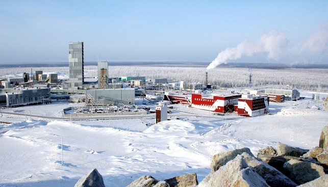 Diamond Mine snow Russia