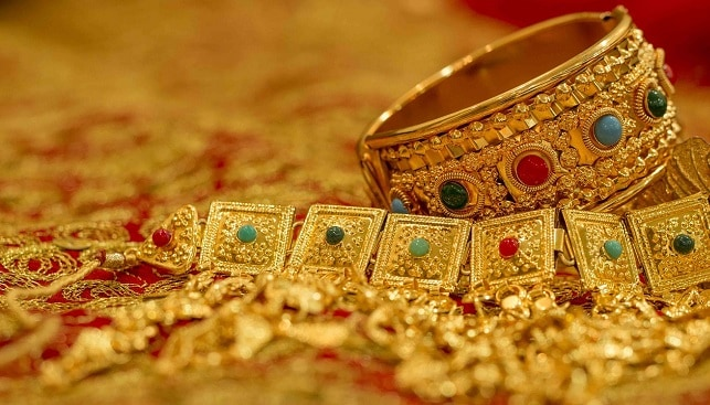 Gold jewelry gems india