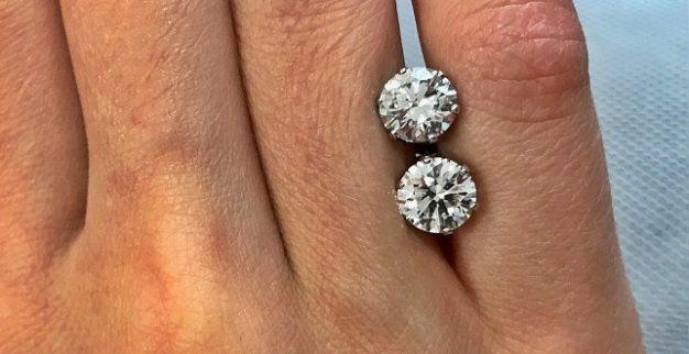 Round Polished Diamond Earrings