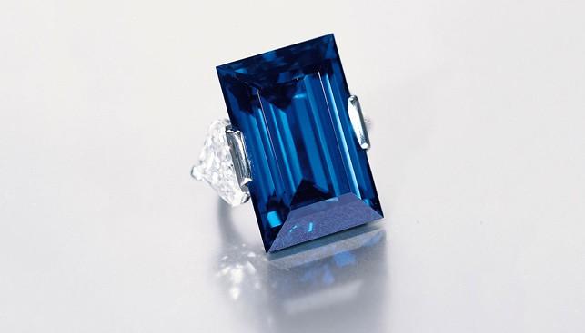 Rockefeller Sapphire blue gem