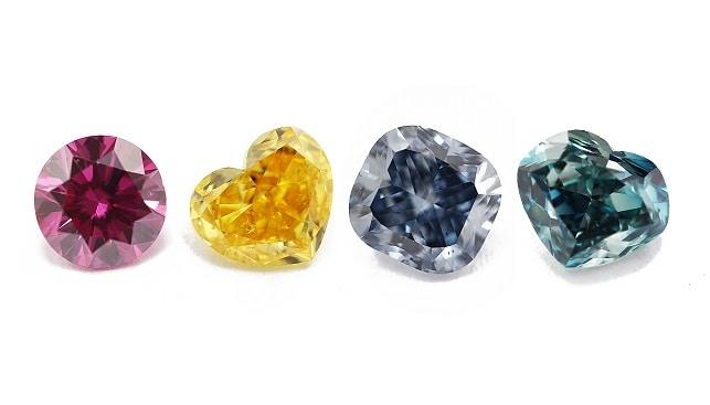 red blue yellow diamonds