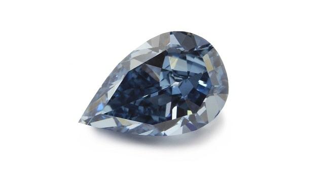 blue diamond drop shape