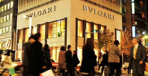 Bulgari LVMH jewelry japan shop street