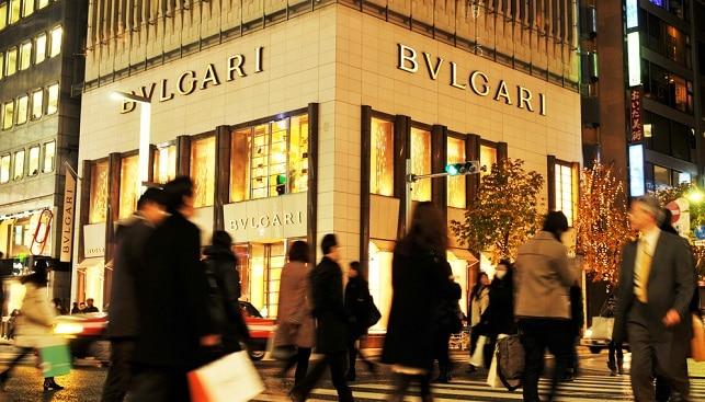 Bulgari LVMH jewelry japan shop street