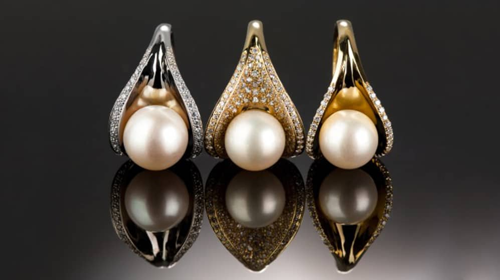 diamond pearl pendants