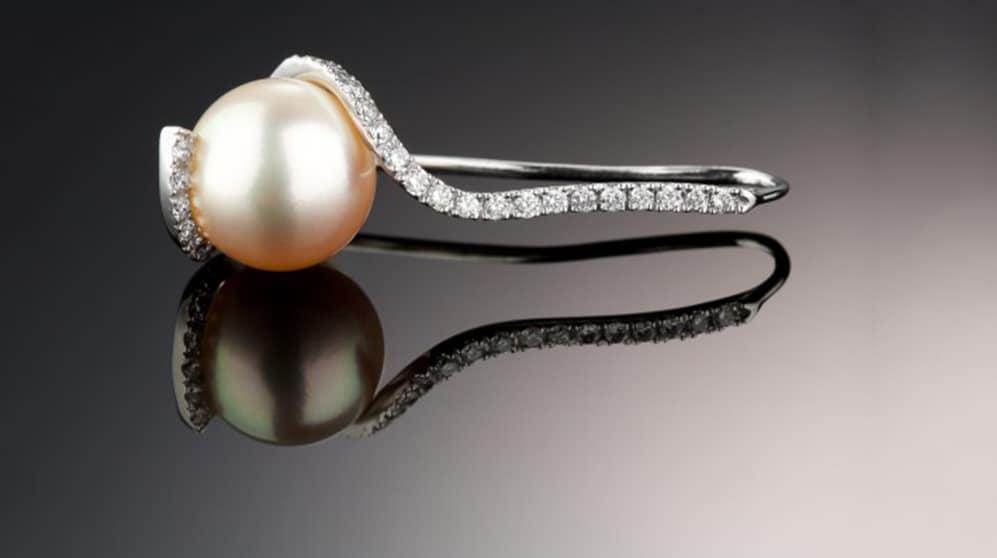 pearl set Ring diamonds