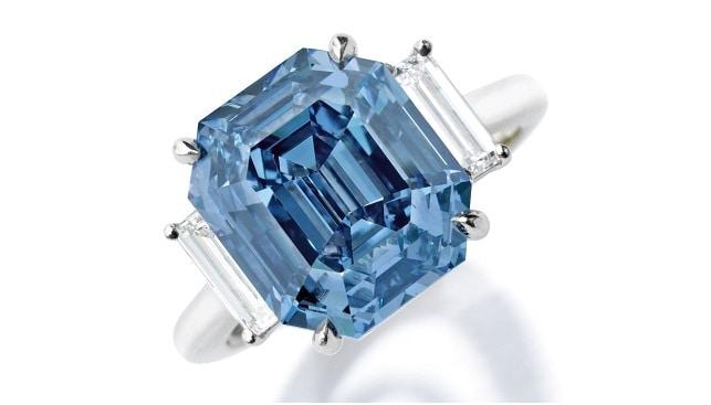Fancy Vivid Blue Diamond ring Sotheby's