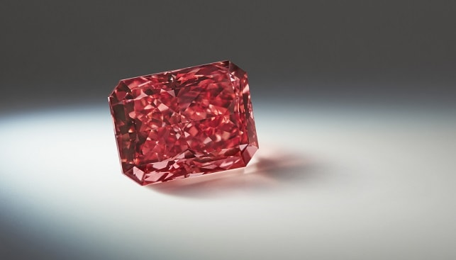 radiant fancy red diamond argyle mine