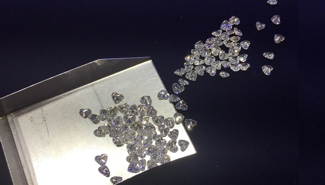 loose polished diamonds heart