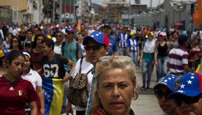 Venezuela Venezuelan People protest