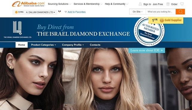Israel diamond exchange alibaba