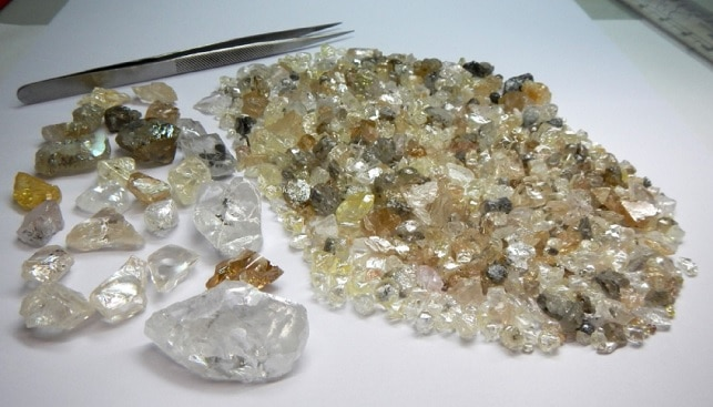 Lucapa rough diamonds Angola