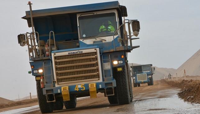 diamond mining truck Namibia