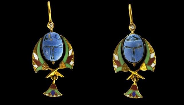 art deco earrings egypt
