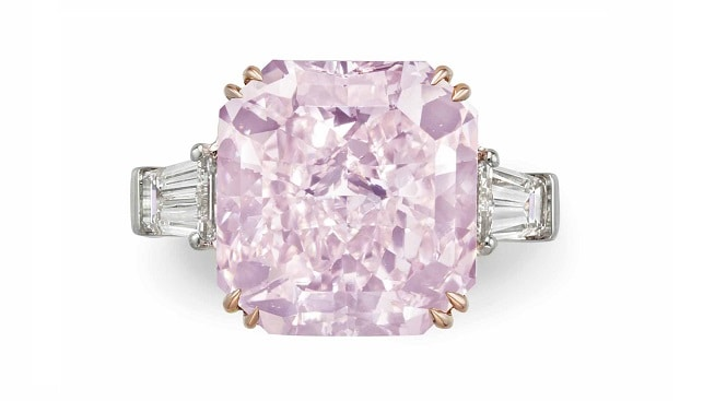 pink diamond ring Christie's