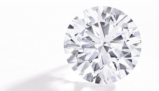 Round brilliant Flawless diamond