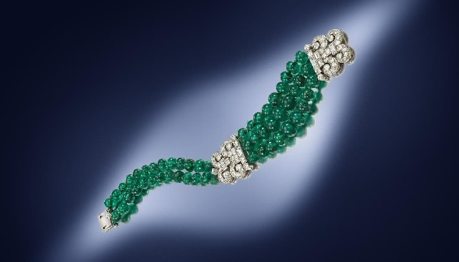 emerald diamond bracelet Cartier