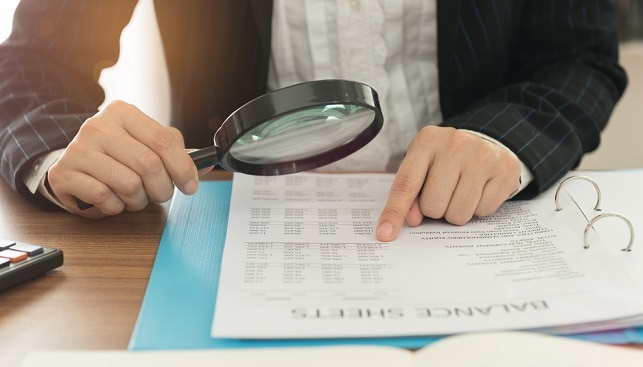 magnifying glass tax audit