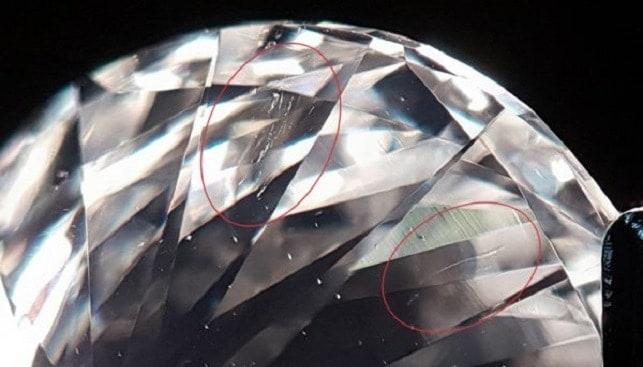 diamonds scratches
