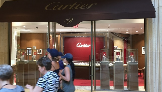 cartier luxury jewelry store